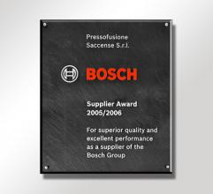 2005/2006  Bosch Supplir Award for the category die-casting.